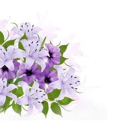 Background with colorful beautiful flowers vector