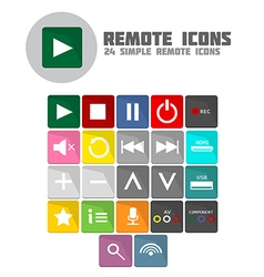 Remote icons vector