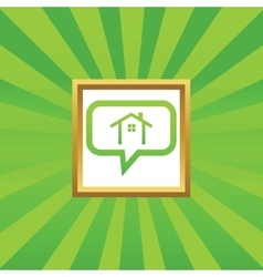 Cottage message picture icon vector