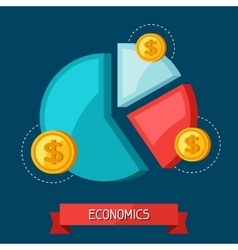 Infographic economic and finance concept flat vector