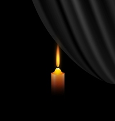 Dark and candle vector