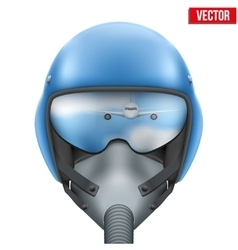 Military flight fighter pilot helmet vector