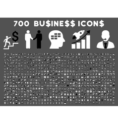 700 Flat Business Icons vector image