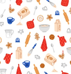 Baking cookies pattern vector