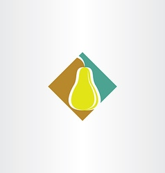 Stylized pear logo icon vector