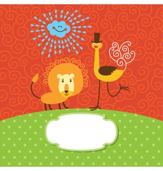Children greeting card vector