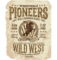 Western pioneers rodeo vector