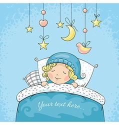 Adorable sleeping child vector