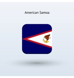 American samoa flag icon vector