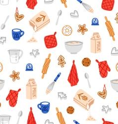 Baking cookies pattern vector