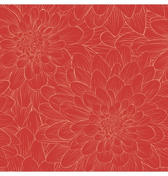 Beautiful seamless pattern with flowers vector