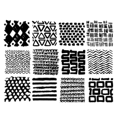 Big collection of different homemade textures made vector image vector image