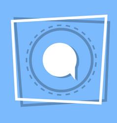 chat bubble icon social media message concept vector image vector image
