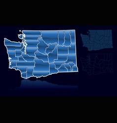 counties of washington vector image