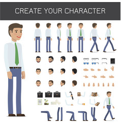 Create your character businessman collection vector