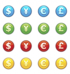 currency icon vector image vector image