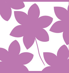 cute and beautiful flower pattern background vector image vector image