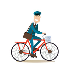 delivery people concept in vector image vector image