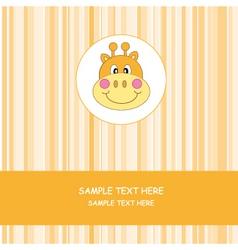face giraffe vector image vector image