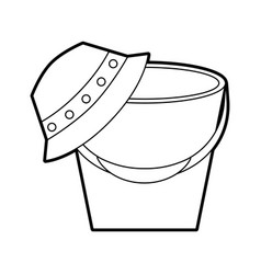 fisher hat with pot vector image