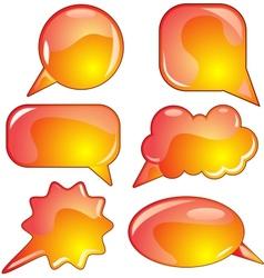 Flame speech bubble set vector image vector image