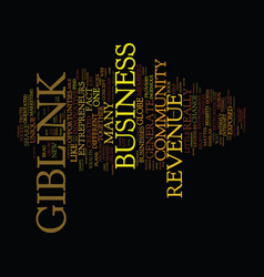 Giblink revenue opportunities exposed text vector