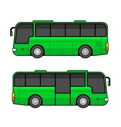 Green bus template set on white background vector