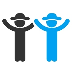Hands Up Guys Icon vector image
