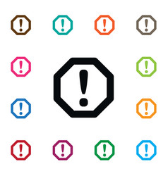 isolated safety icon traffic element can vector image vector image