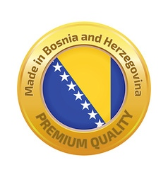 Made in Bosnia and Herzegovina logo vector image vector image