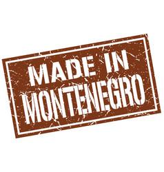 made in montenegro stamp vector image vector image