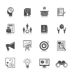 Marketers Black Icons Set vector image