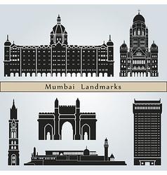 Mumbai landmarks and monuments vector