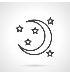 Night symbol black line icon vector image