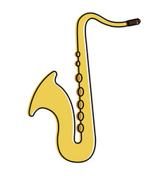 Saxophone instrument isolated icon vector