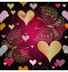 Seamless vivid valentine pattern vector image