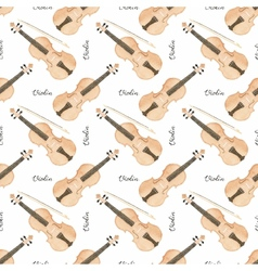 Seamless watercolor pattern with violin on the vector