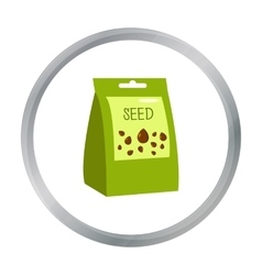 Seeds icon of for web and vector image vector image