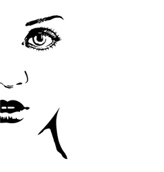 Silhouette of a womans face vector