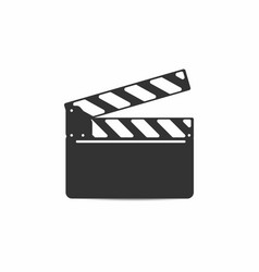 simple clapper board with mounting isolated on vector image