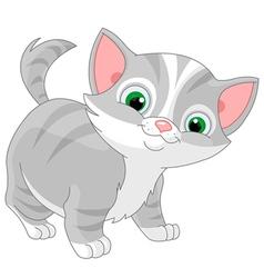 Striped kitten vector