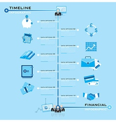 Timeline business financial infographic vector