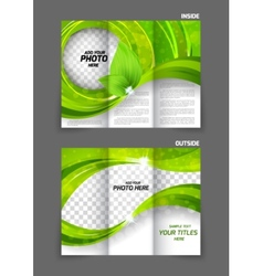 Tri-fold brochure vector