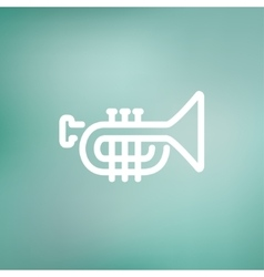Trumpet thin line icon vector image