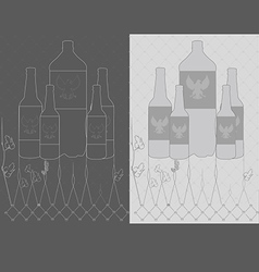 vintage beer bottle vector image