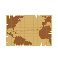Vintage map icon vector