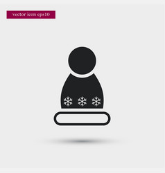 Winter hat icon simple winter sign vector