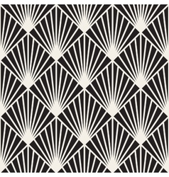 Seamless black and white burst lines vector