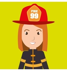 Woman fire helmet mask vector