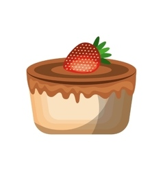 Delicious cake sweet icon vector